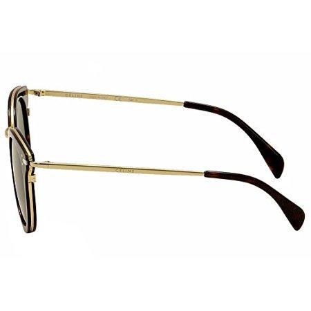3d61f453d12f Celine - Celine Oval Sunglasses CL41373S ANT85 Gold Havana 48mm 41373 -  Walmart.com
