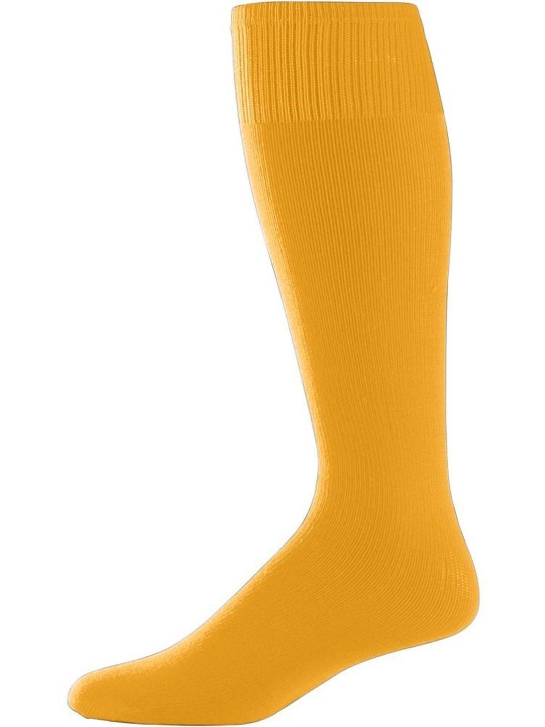 Gold Adult Sport Socks (Pair) Mens Womans Athletic Sports Baseball Softball