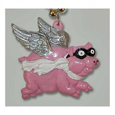 Beaded Wing (PIGS FLY WINGS PINK Mardi Gras Beads New Orleans Party)