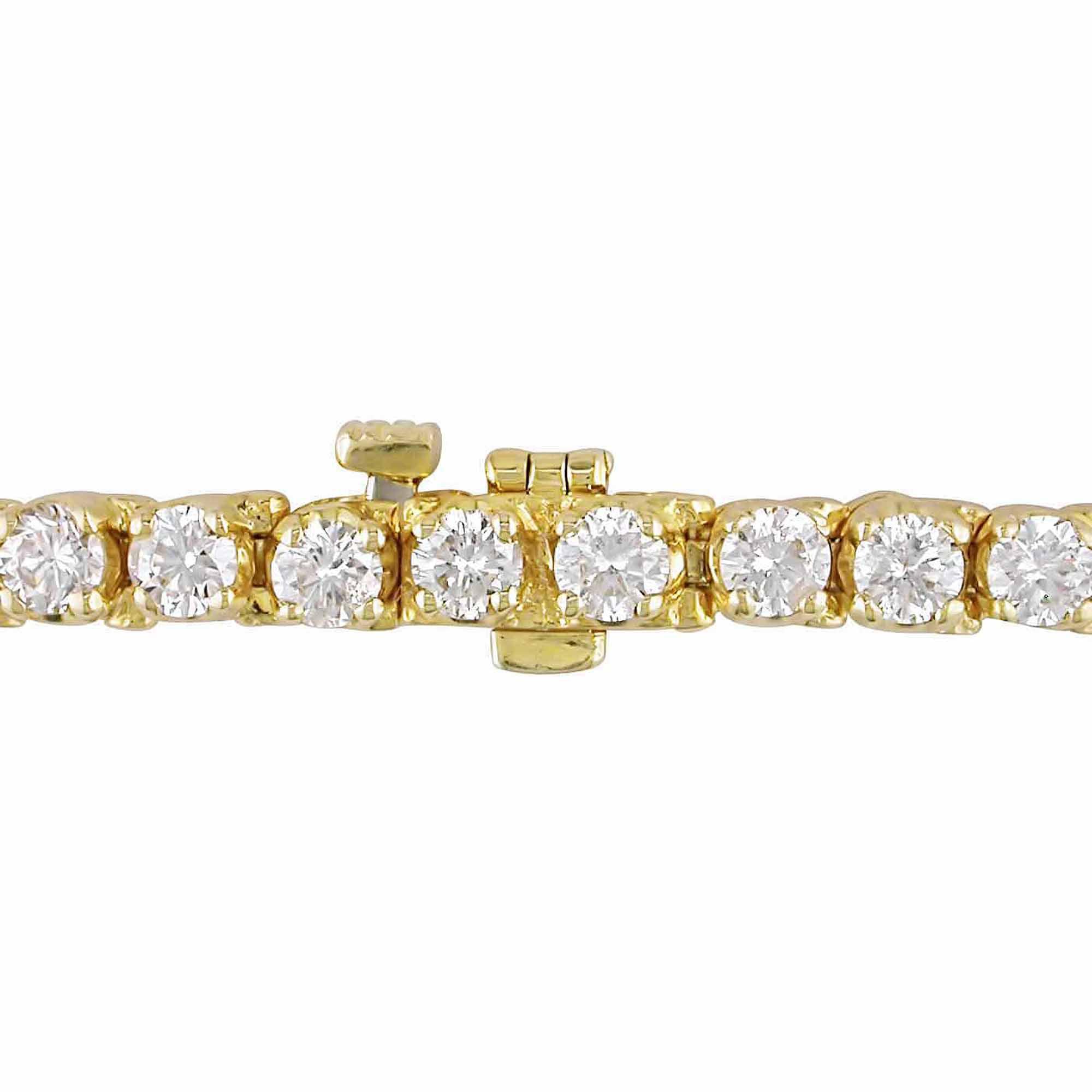 "Miabella 6 Carat T.W. Diamond 14kt Yellow Gold Tennis Bracelet, 7"" by"
