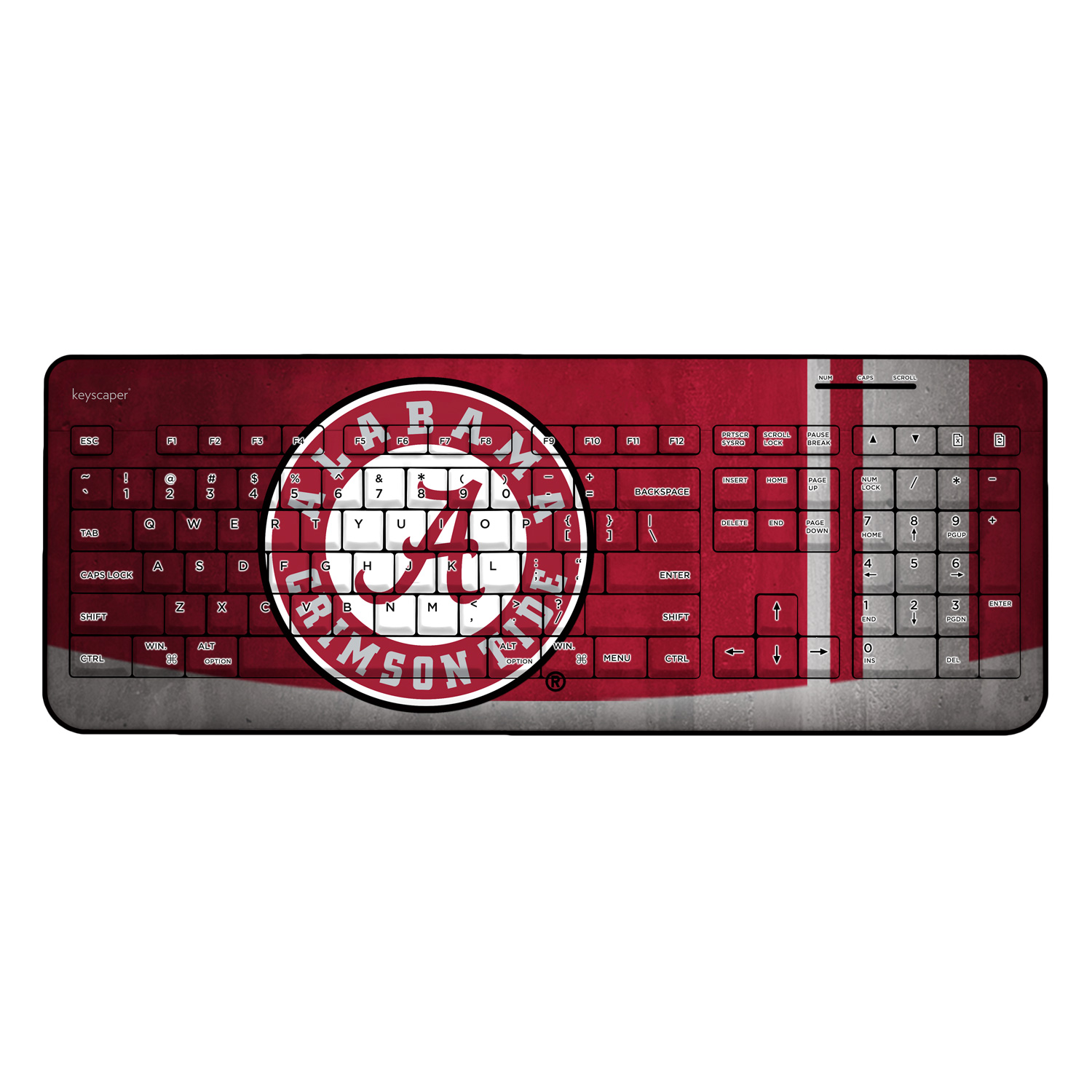 Alabama Crimson Tide Wireless USB Keyboard NCAA