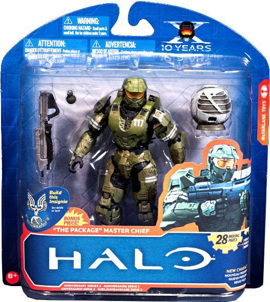 McFarlane Halo 10th Anniversary Series 2 The Package Master Chief Action Figure