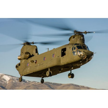 A Nevada National Guard CH-47 Chinook helicopter Poster Print by Rob EdgcumbeStocktrek - Nevada National Guard