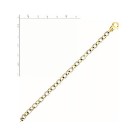 14K deux tons d'or 6.5mm cha?ne Fancy lien - image 1 de 2