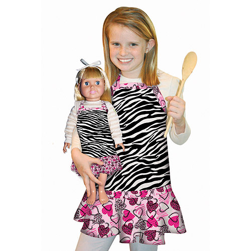 Creative Cuts Child Fabric Doll Apron Kit, Zebra