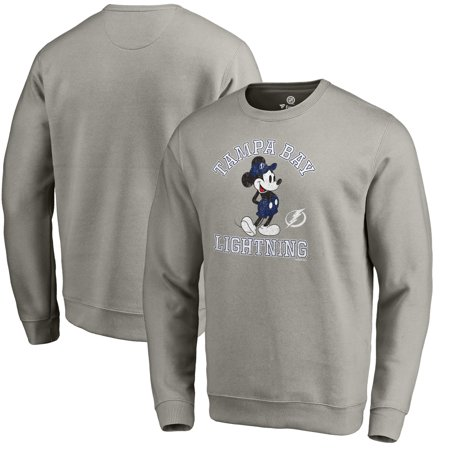 Fleece Tampa Bay Lightning Sweatshirt (Tampa Bay Lightning Fanatics Branded Disney Tradition Sweatshirt - Heathered Gray )