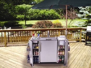 Stainless Steel Outdoor Serving Cart by Summit