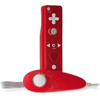 Tomee Remote & Nunchuk Super Plus Pack - Red for Nintendo Wii and WiiU