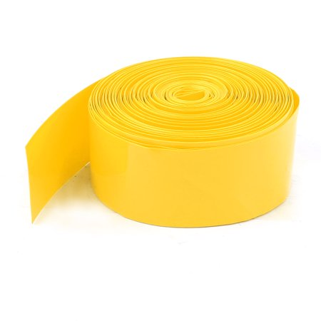 17mm Flat Width Yellow PVC Heat Shrink Tube Wrap 10m for 1 x AAA - Flare Wrap
