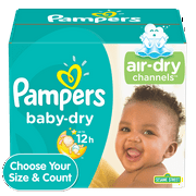 Pampers Baby-Dry Extra Protection Diapers, Size 3, 104 ct