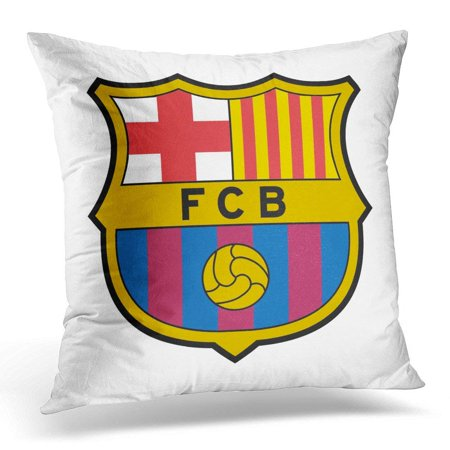 - ARHOME Team Barcelona Spain December 3 2016 of Football Club Emblem Pillow Case Pillow Cover 20x20 inch