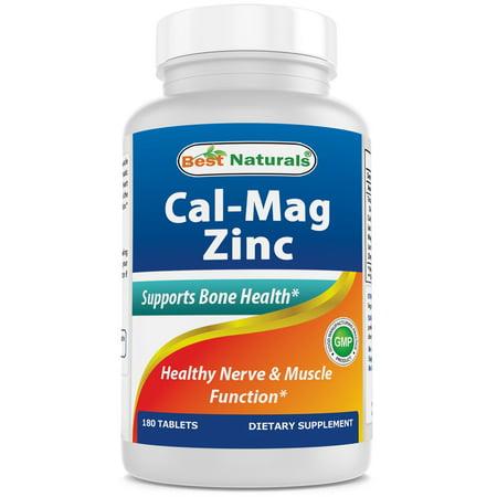 Best Naturals Cal Mag Zinc 180 Tablets