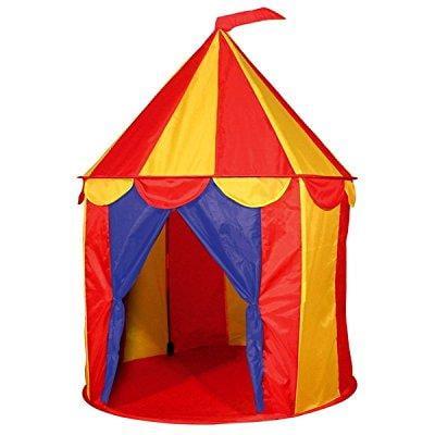 POCO DIVO Red Floor Circus Tent Indoor Children Play House Outdoor Kids (Circus Trampoline Tent)