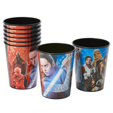 American Greetings Star Wars 8 16oz Plastic Party Cups, - Star Wars Party Supplies Clearance