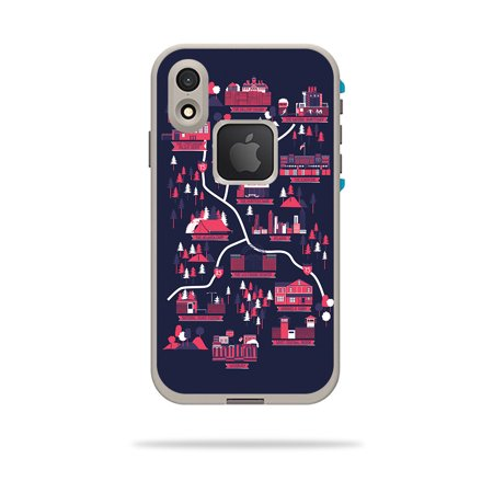 Skin for LifeProof FRE iPhone XR Case - Zombie Apocalypse Map | Protective, Durable, and Unique Vinyl Decal wrap cover | Easy To Apply, Remove, and Change