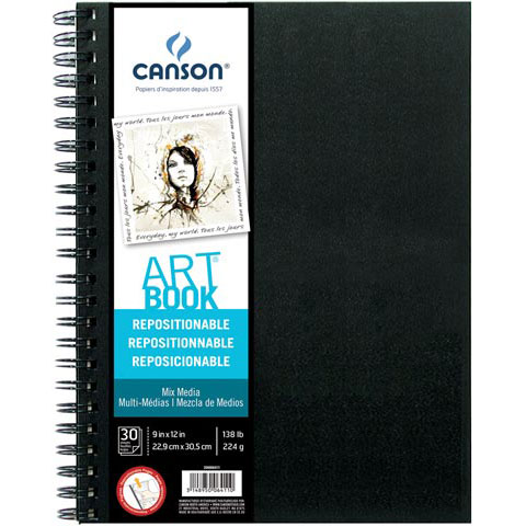 """Canson - Repositionable Art Book - 9"""" x 12"""" - Illustration"""