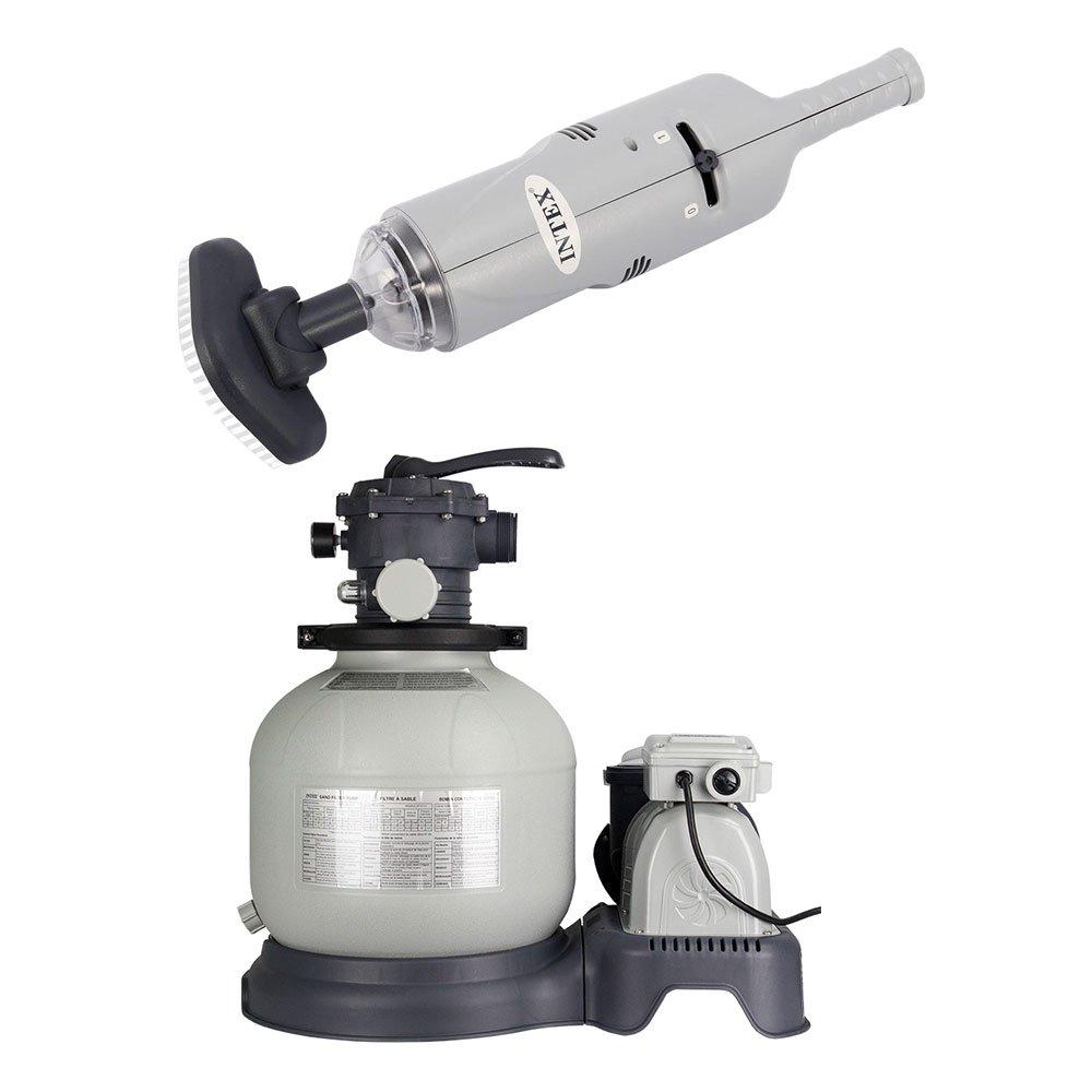 Intex Rechargeable Handheld Pool Vacuum & Above Ground Pool Sand Filter Pump