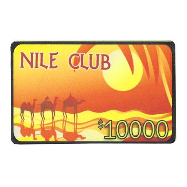 Bry Belly CPNI-$10000 25 Roll of 25 - $10,000 Nile Club 40 Gram Ceramic Poker Plaque