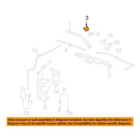 15776792 CAP 16.063, Genuine GM Windshield Wiper Arm Cap By General Motors Ship from US