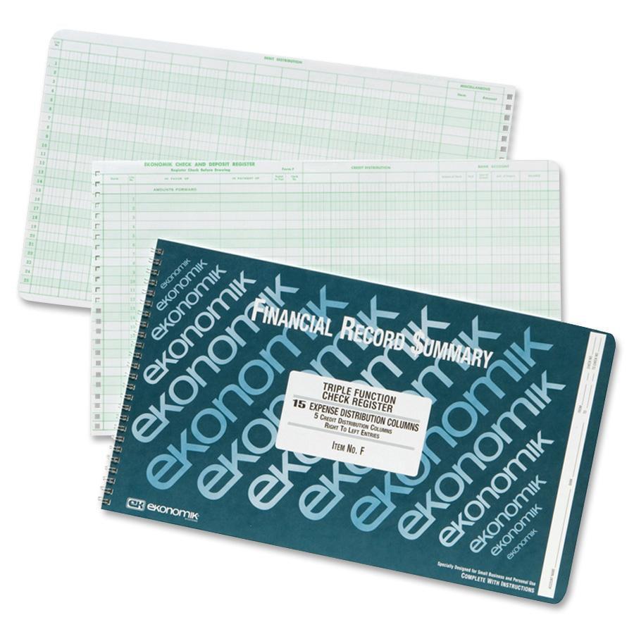 Ekonomik Triple-function Check Register, 1 Each (Quantity) by Ekonomik