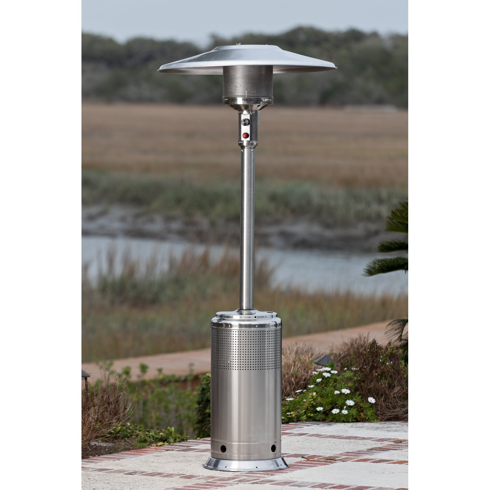 Fire Sense Stainless Steel Pro Series Patio Heater by Well Traveled Living