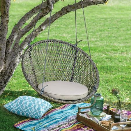Wondrous Belham Living Saria Resin Wicker Single Hanging Swing Chair Lamtechconsult Wood Chair Design Ideas Lamtechconsultcom