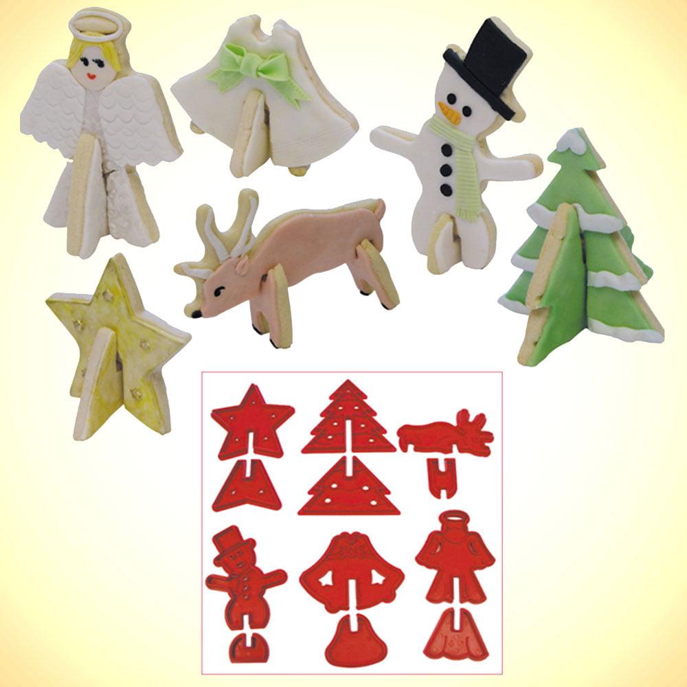 Christmas 3d Cookie Cutter 12 Pc Set