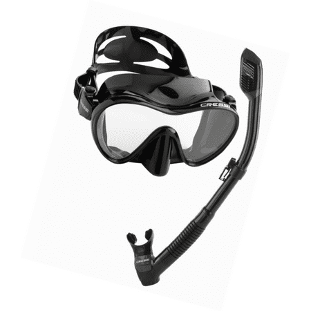 - Cressi Scuba Diving Snorkeling Freediving Mask Snorkel Set, All Black