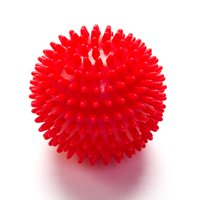 Black Mountain Products Deep Tissue Massage Ball with Spikes, Red