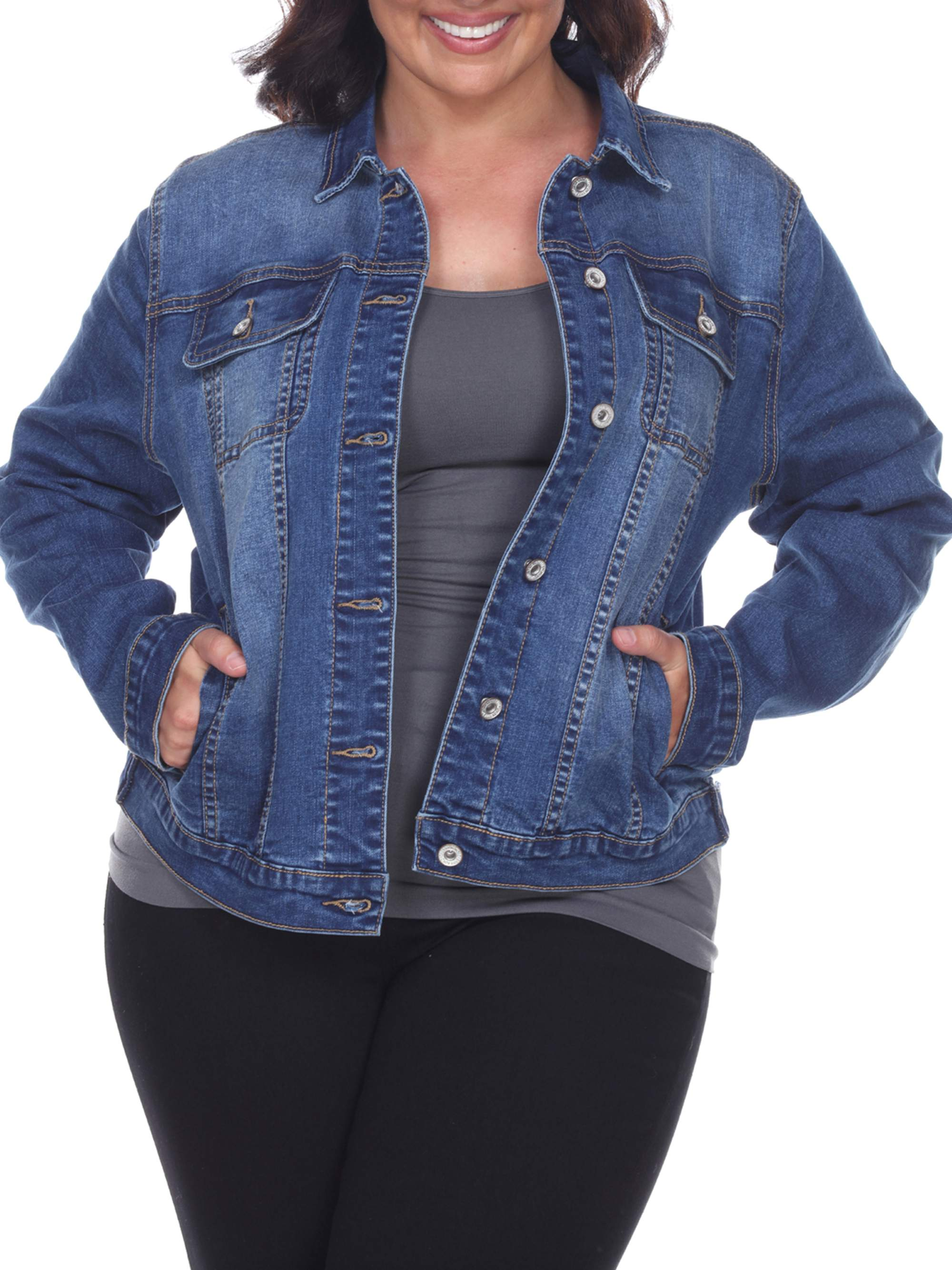 1be7fdf77bd Women's Plus Size Denim Jacket - Walmart.com
