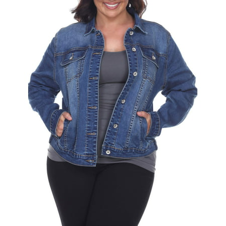 White Mark - Women s Plus Size Denim Jacket - Walmart.com 3783aa2918