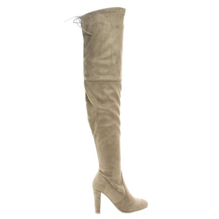 eae8e2ae96d Wild Diva Women Over The Knee Thigh High Heels Boots Back Lace Up ...