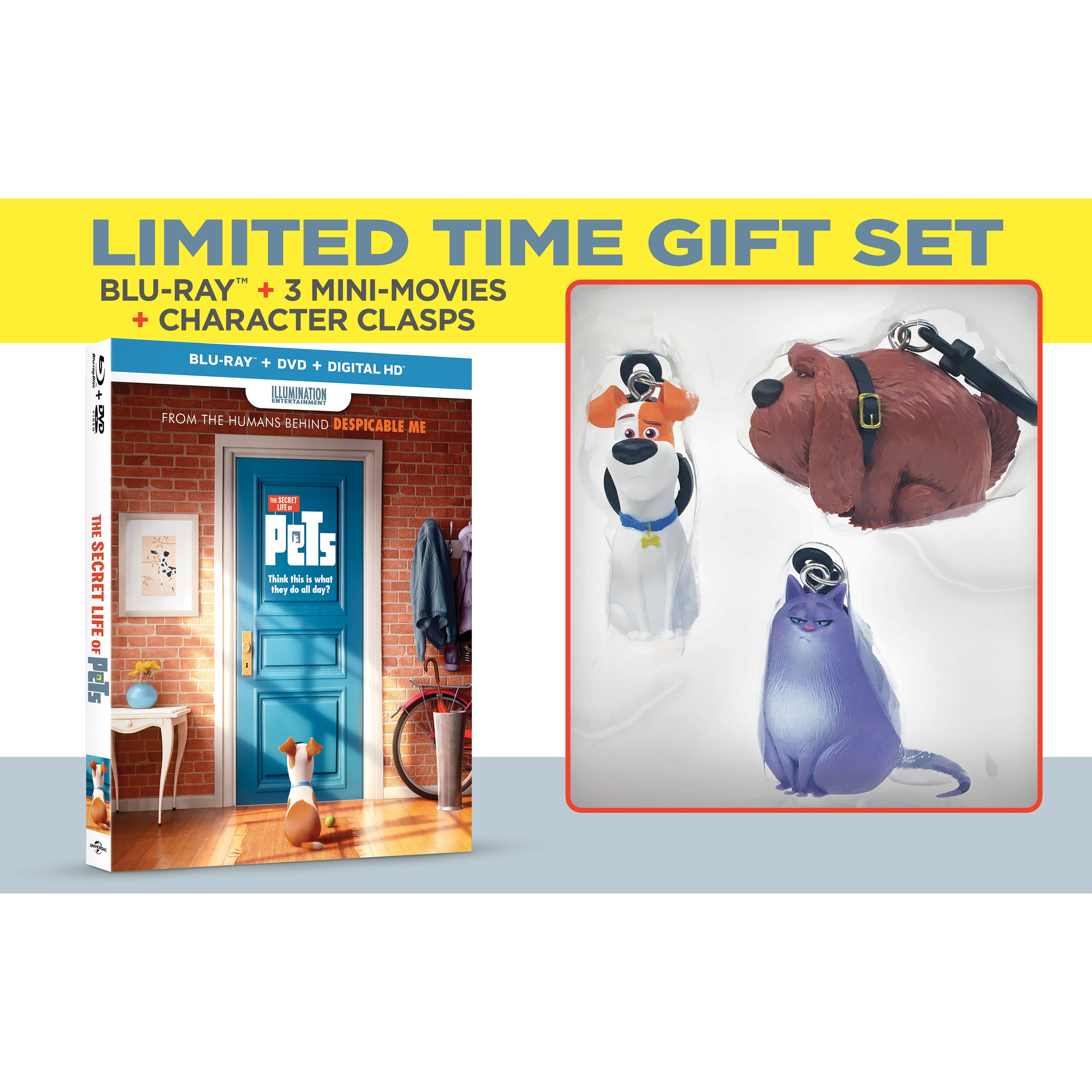 The Secret Life of Pets: Includes Walmart Exclusive Secret Life of Pets toy characters.