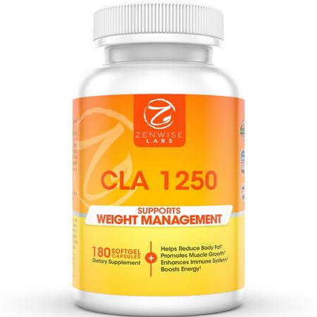 CLA 1250 - Supplément alimentaire de perte de poids - Acide Linoléique Conjugué à brûler les graisses Slim Down et construi