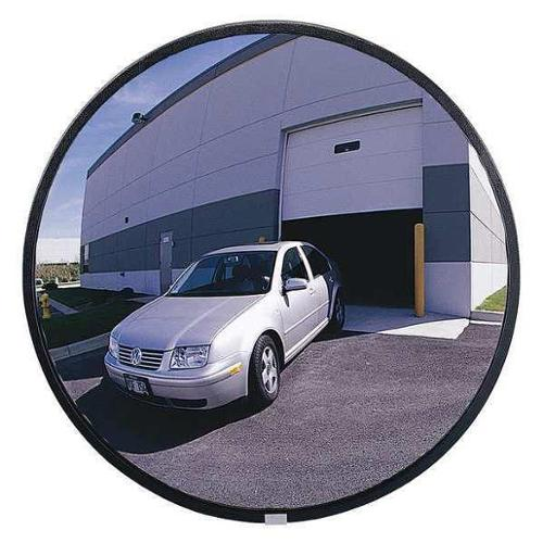 GRAINGER APPROVED Outdoor Convex Mirror,Circular,18 in., SCVIP-18Z-GL-VT