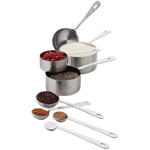 Amco Professional Stainless Steel Measuring Cups & Spoons Set by Amco