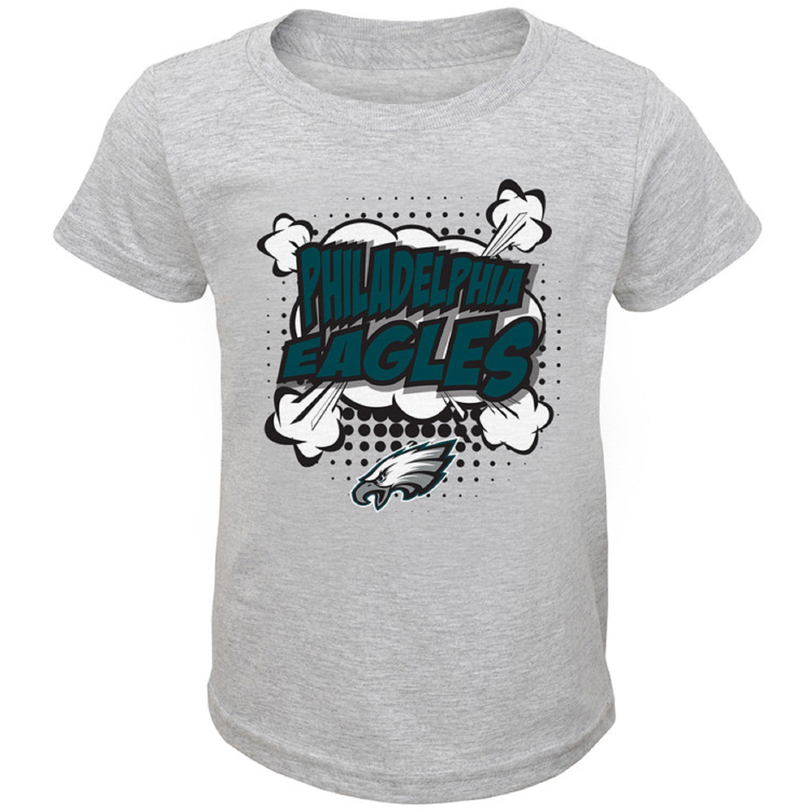 Toddler Heathered Gray Philadelphia Eagles Crew Neck T-Shirt