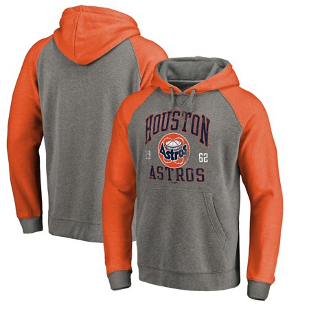 best sneakers 2fdf8 4b69b Houston Astros Fanatics Branded Cooperstown Collection Old Favorite  Tri-Blend Pullover Hoodie - Heathered Gray/Orange