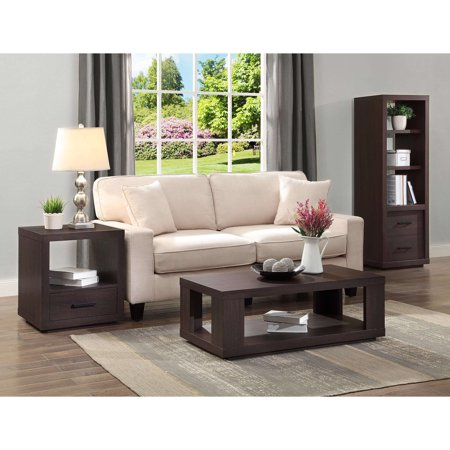 Better Homes Gardens Steele End Table With Drawer Espresso Finish Best End Tables