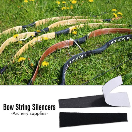 Naccgty 2pcs Archery Recurve Bow String Silencer Hair Dampener Accessory for Hunting, Archery Silencer, Archery Accessory thumbnail