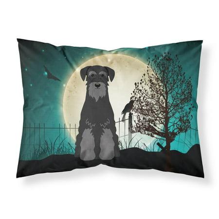 Halloween Scary Standard Schnauzer Black Fabric Standard Pillowcase BB2222PILLOWCASE