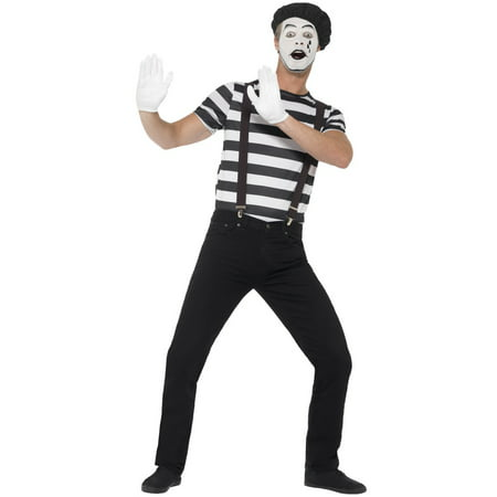 Gentleman Mime Adult Costume](Mime Mask)