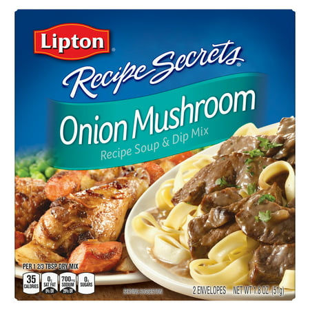 (3 Pack) Lipton Soup and Dip Mix Onion Mushroom 1.8 oz Potatoes Mushroom Soup