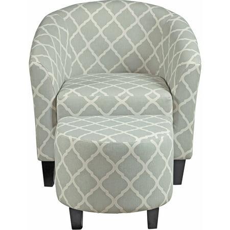 Awesome Grey Upholstered Barrel Accent Chair Ottoman Walmart Com Short Links Chair Design For Home Short Linksinfo