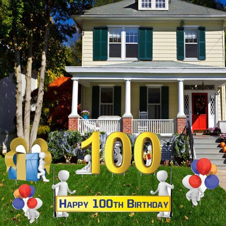 Happy 100th birthday yard decoration 100th birthday 16 for 100th birthday decoration ideas