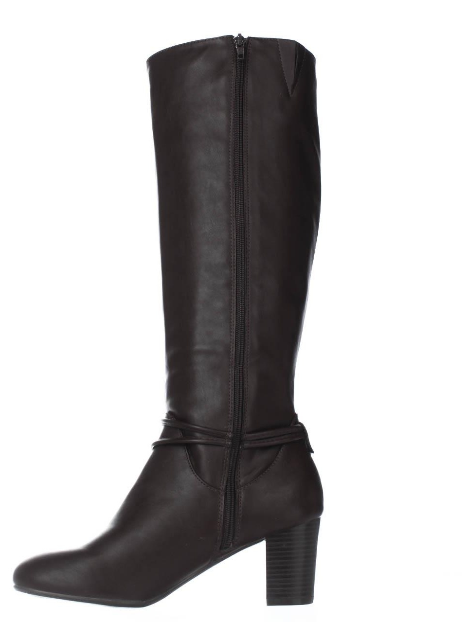 Womens KS35 Gaffar Knee High Dress Boots - Brown