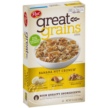 Post Great Grains Banana Nut Crunch Whole Grain Cereal 15 5 Oz  Box