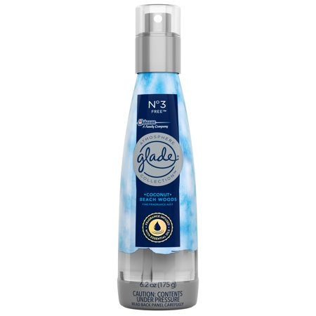 - (2 pack) Glade Atmosphere Fine Fragrance Mist Air Freshener No. 3 Free: Coconut & Beach Woods, 6.2 oz.