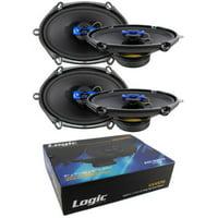 "4x 5x7"" 6x8"" 2 Way Coaxial High Power Speakers 800 Watts 4 Ohm Pro Car Audio"