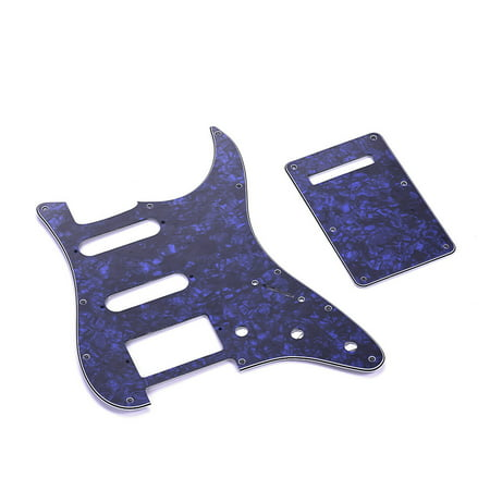 SSH Guitar Pickguard Set with Back Plate Screws PVC Pick Guard for American ST Electric Guitars Blue Pearl